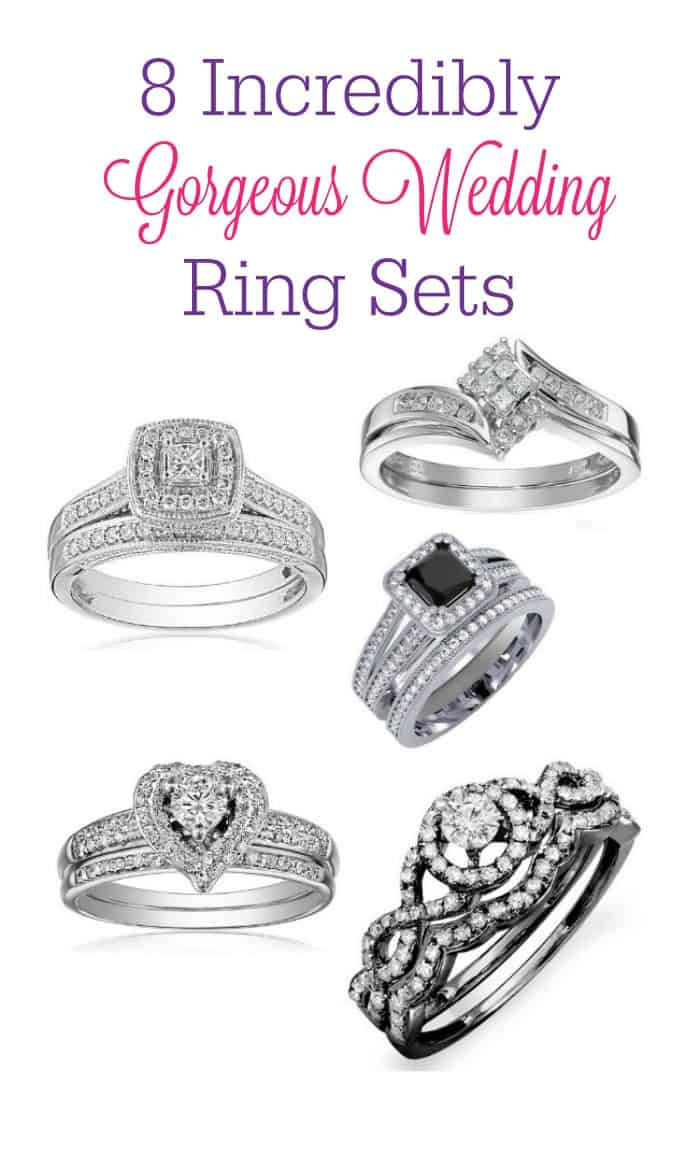 Stressing over finding the perfect wedding bands that you'll love for a lifetime? Check out these 8 gorgeous wedding ring sets!