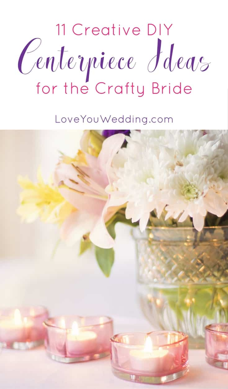 Save money on your tablescapes with these gorgeous & creative DIY centerpiece ideas for the crafty bride! Check the out!