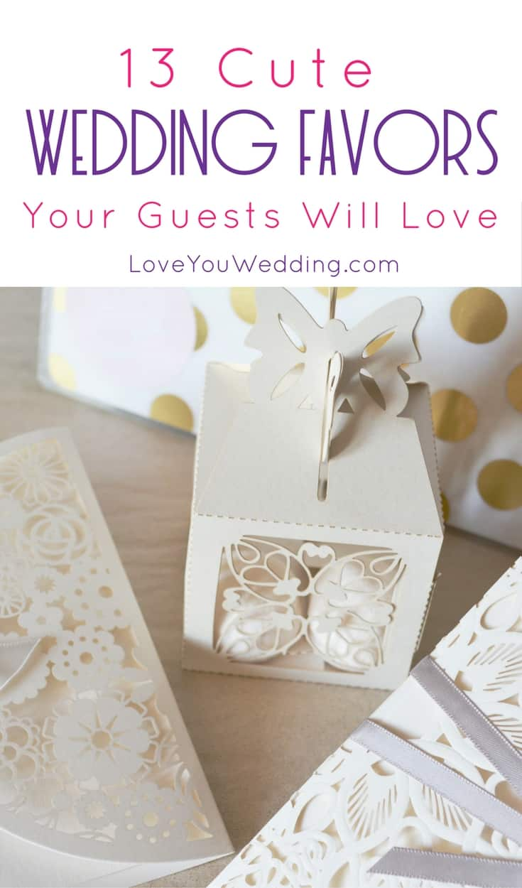 13 Cute Wedding Favors Your Guests Will Love