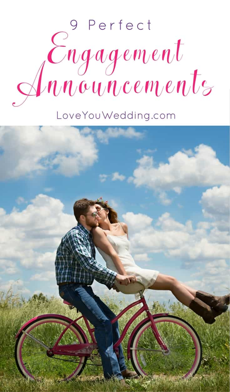 Looking for creative engagement announcements to share your big news with the world? We love these 9 brilliant ways to get the word out!