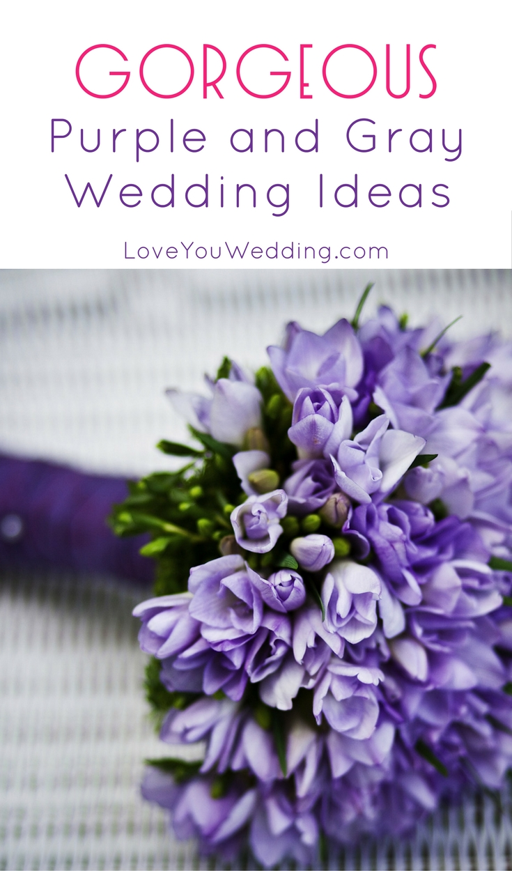 Looking for a color scheme that really pops on your big day? We absolutely adore these 5 purple and gray wedding ideas! Check them out!