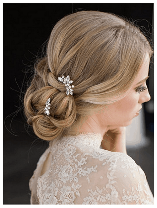 Wedding bridal rhinestone hair pins