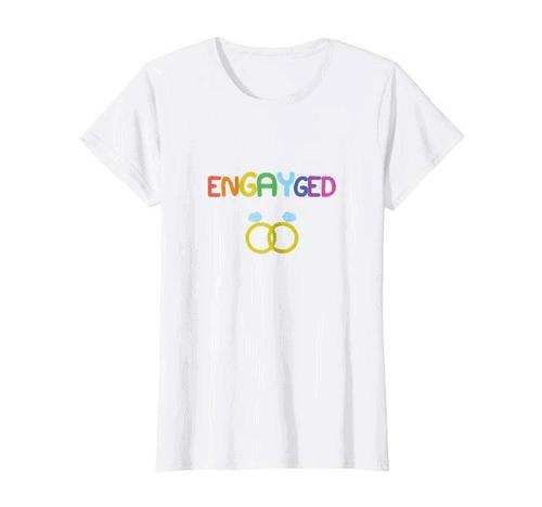 Best Lesbian Engagement Gifts tshirt