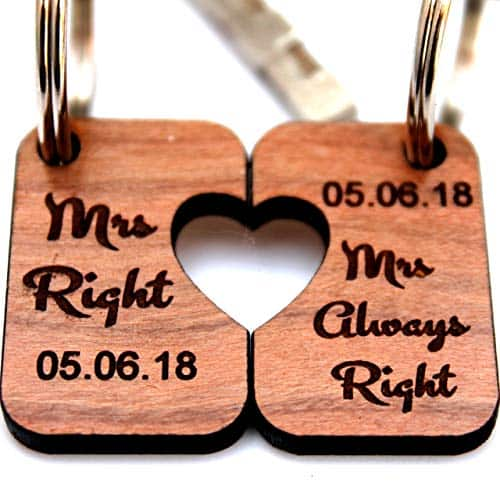 Best Lesbian Engagement Gifts Heart Puzzle Keychain