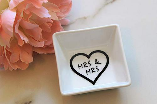 Best Lesbian Engagement Gifts ring dish