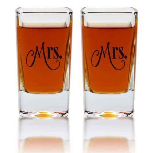 Best Lesbian Engagement Gifts shot glasses
