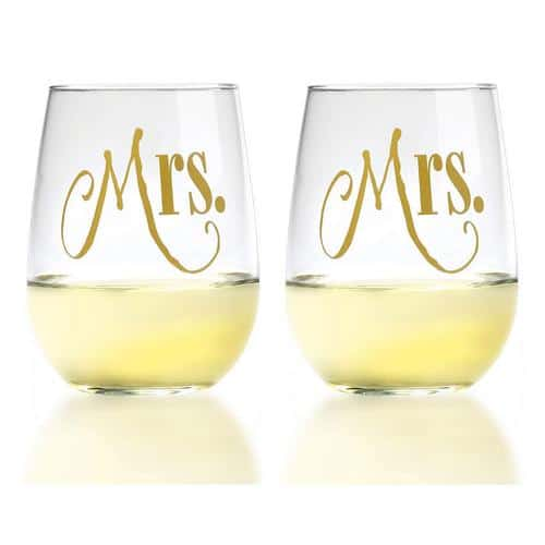 Best Lesbian Engagement Gifts Wine glasses