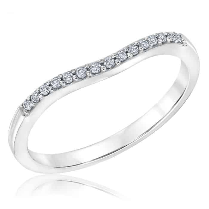Ellaura Embrace Curved Diamond Ring 1/10ctw