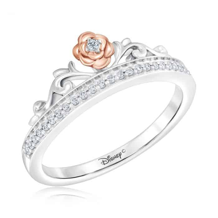 Enchanted Disney Fine Jewelry Diamond Belle Princess Ring