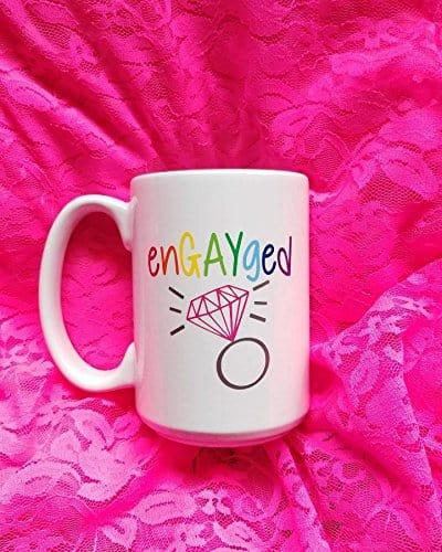 engayged coffee mug