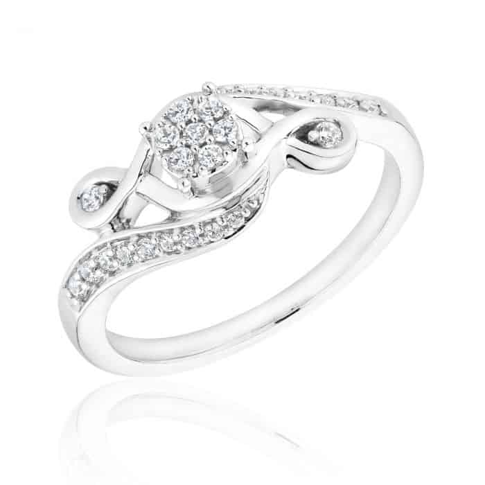 Diamond Cluster Promise Ring