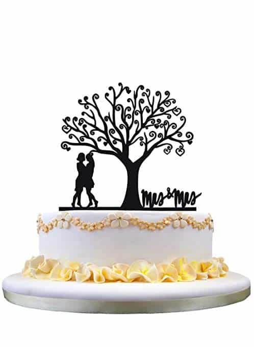 lesbian wedding cake topper