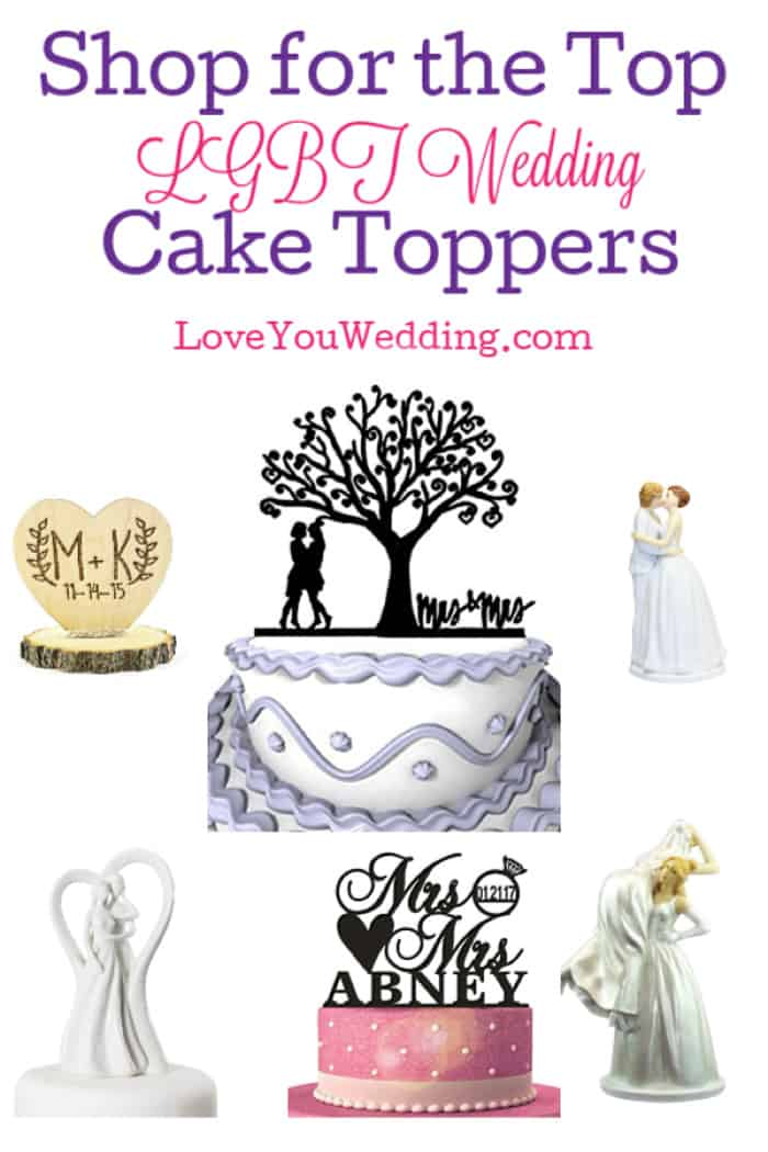 Are you shopping for the top LGBT wedding cake toppers for your perfect wedding cake?You've come to the right place! Check out these gorgeous ideas!