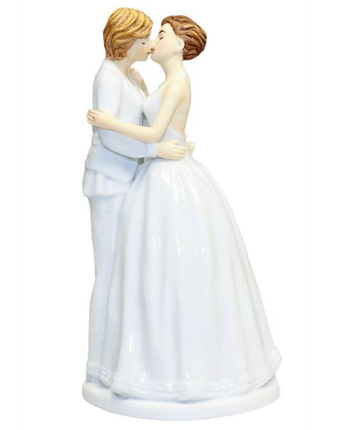lesbian romance cake topper