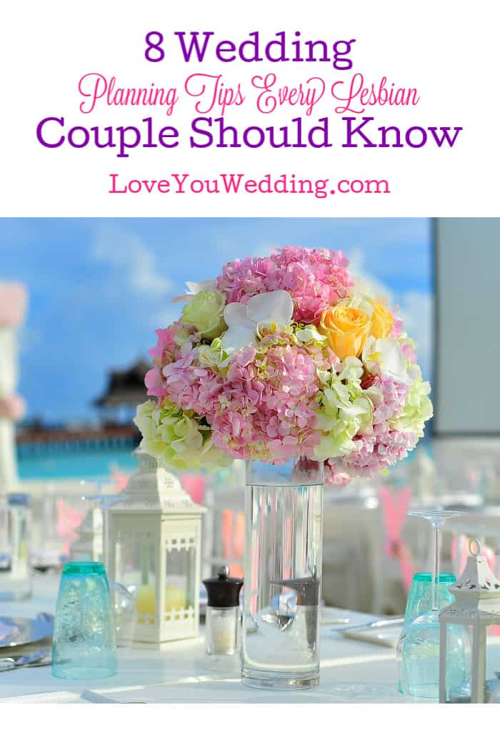 Let's talk about wedding planning tips every lesbian couple needs to know to help make the day more special and less stressful!