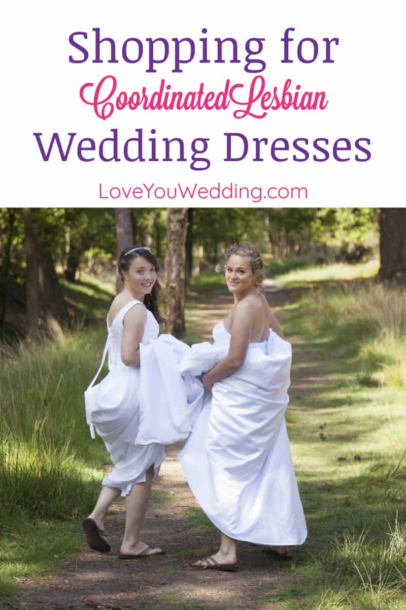 Need tips on how to coordinate lesbian wedding dresses? Read on for advice from the planning stage to the small touches, plus check out my favorite looks!