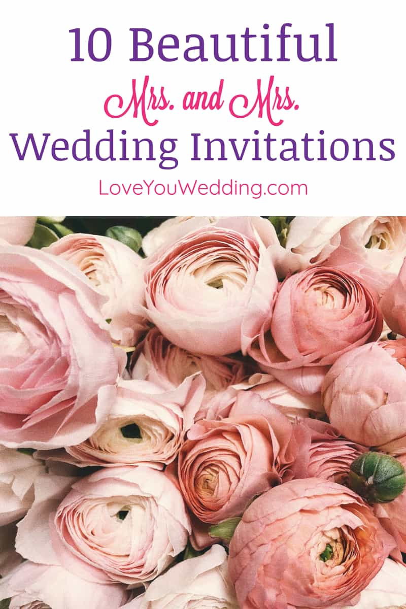 """Looking for the best """"two brides wedding invitations"""" to get the word out about your big day? You're going to adore these beautiful ideas!"""
