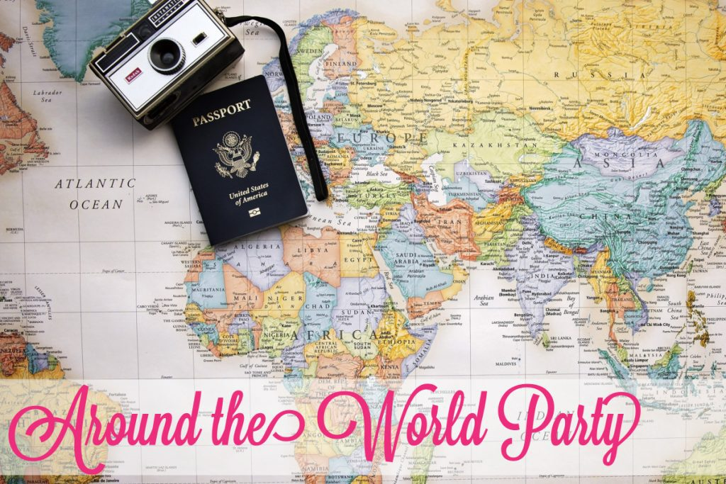 map with camera and passport