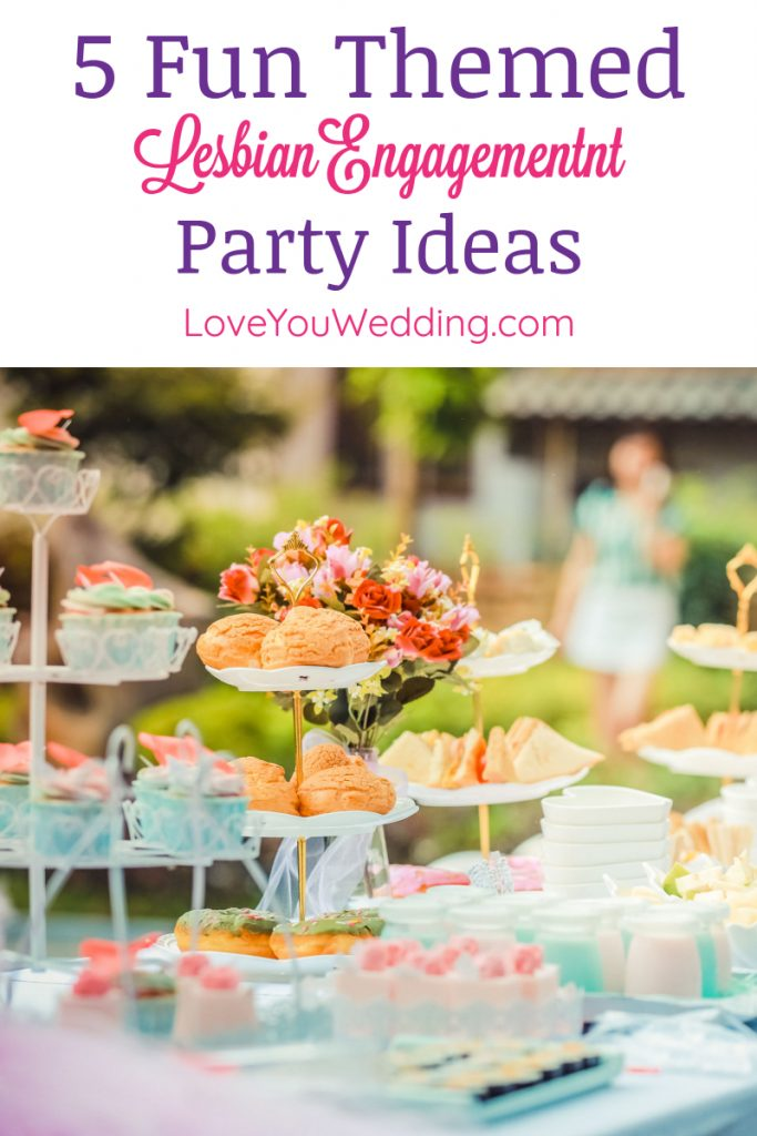 Looking for the best lesbian engagement party ideas to share your big news with everyone you love? Check out our tips + some fun theme ideas!
