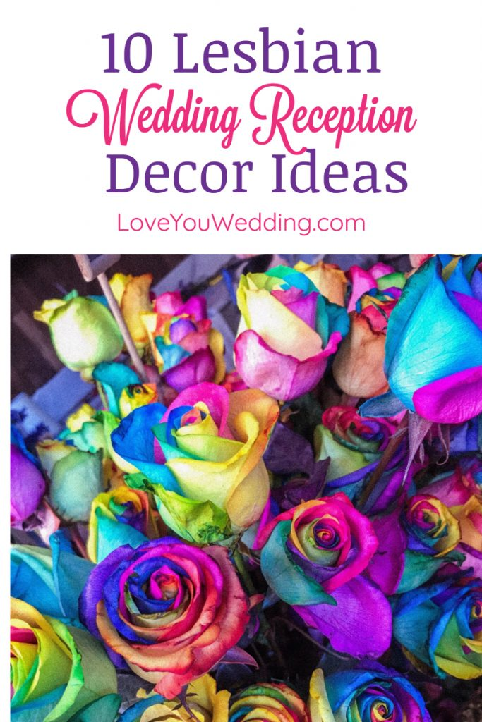 Looking for the most beautiful & unique lesbian wedding decoration ideas? Take a look at these ideas for the reception!