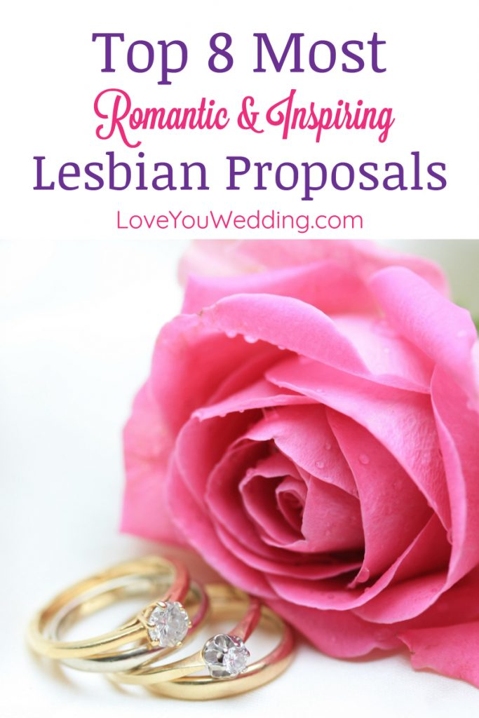 Need some inspiration for a proposal so romantic, it'll go down in the history books? Check out these 8 epic lesbian wedding proposals!