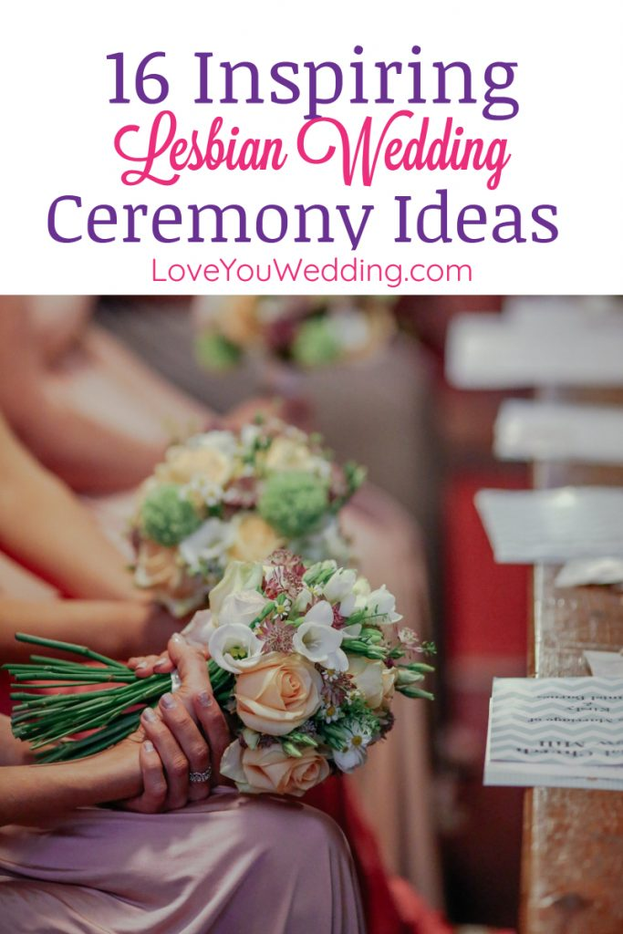 If you need some inspiring lesbian wedding ceremony ideas, you'll love our list! From the entrance to the