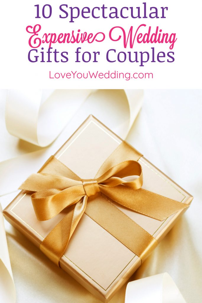 Looking for expensive wedding gifts for couples to give as a group gift? Check out 10 beautiful & meaningful ideas, including some just for LGBT couples!