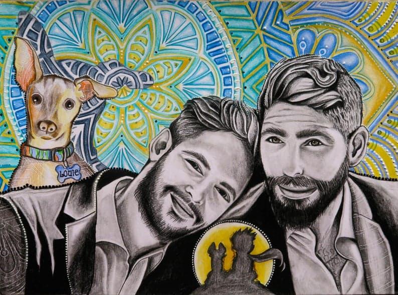 Gay Anniversary, Couple Portrait