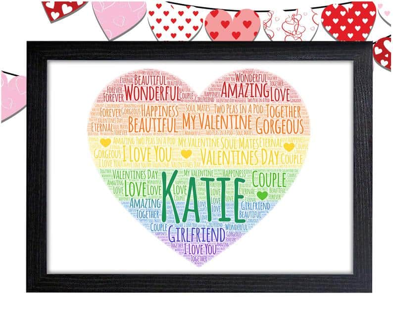 Personalized Rainbow Love Heart