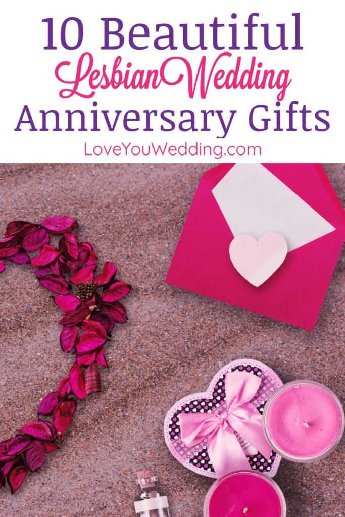 Whether you're looking for the best lesbian wedding anniversary gifts to give each other or just want to get your favorite couple a little something, we've got you covered!