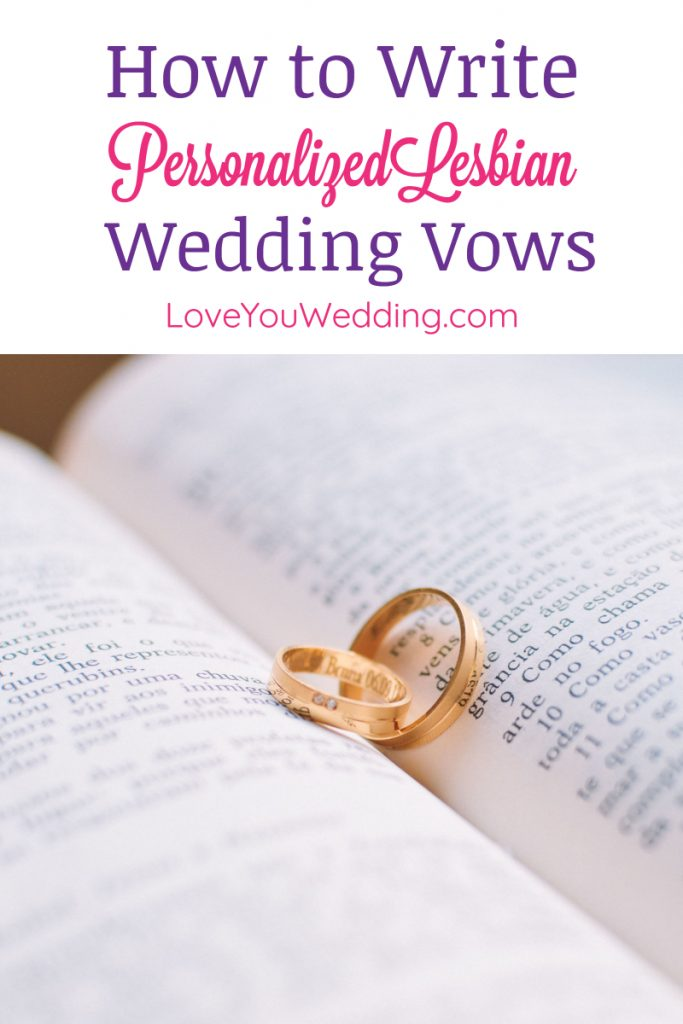 If you're wondering how to personalize lesbian wedding vows so they're more unique to you and your bride, you're in the right place. Check out our complete guide!