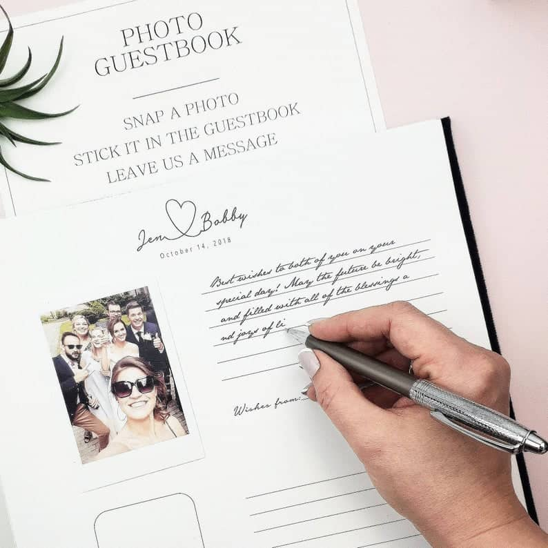 Instant Photo Album Wedding Guest Book