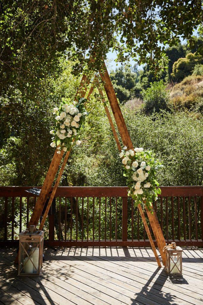 A-Frame Style Rustic Wedding Arch Rental