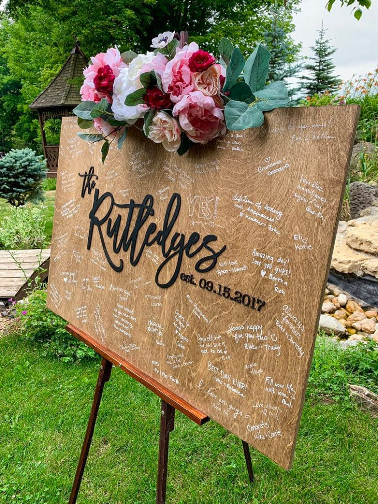 Wedding Welcome Sign Guest Book Alternative