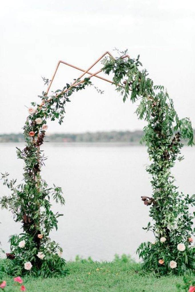 copper outdoor wedding arch