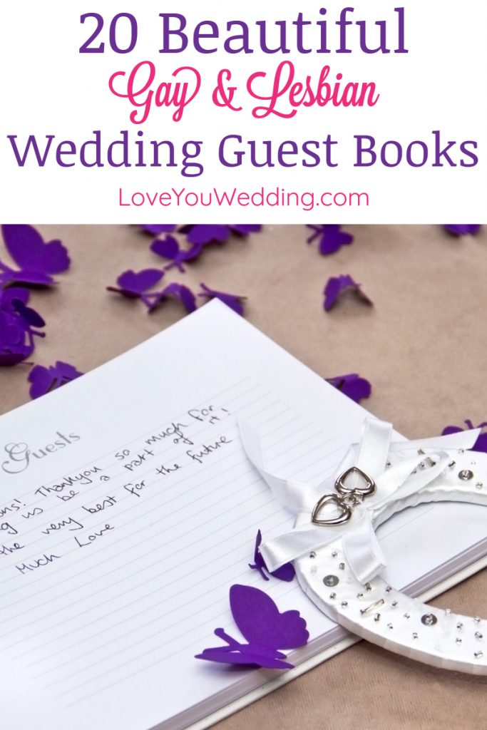 From traditional cardstock books to unique alternatives, if you're searching for the best gay and lesbian wedding guest book ideas, we've got you covered!