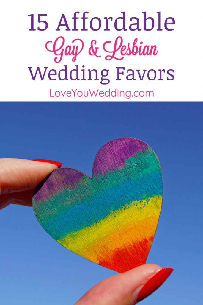 If you're looking for the best affordable gay and lesbian wedding favors, we've got you covered! Check out 15 cheap favors that still look great!