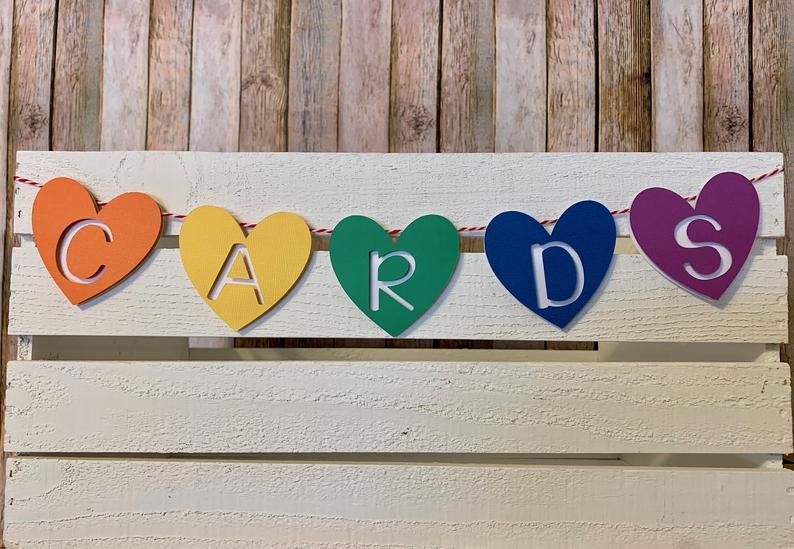 gay wedding shower decorations rainbow cards banner