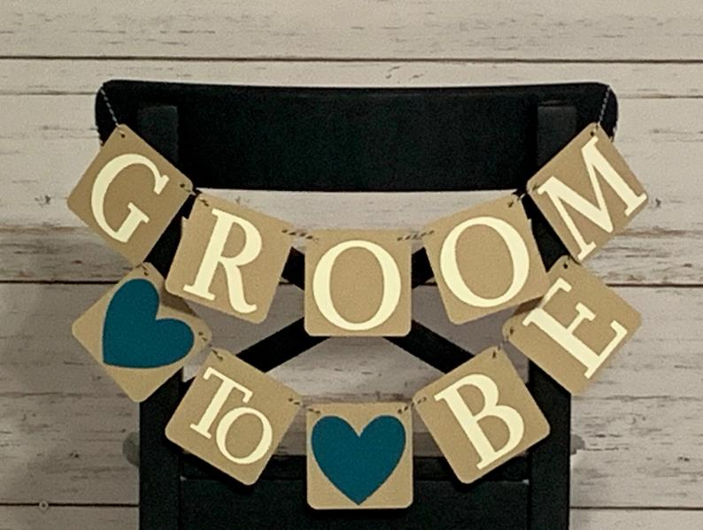 groom to be wedding shower decorations