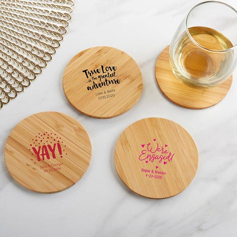 lesbian cheap wedding favors coaster set