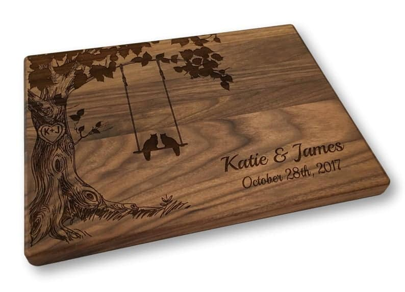 Cats on a Swing Personalized Cutting Board