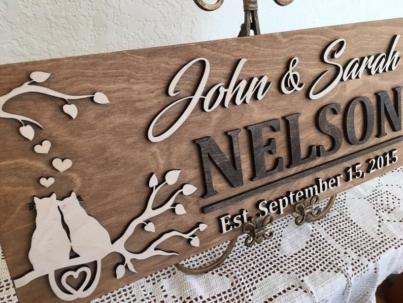 wedding gift ideas for cat lovers cat sign