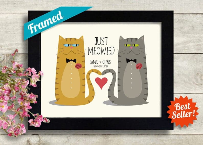 Gay wedding gift idea for cat lovers