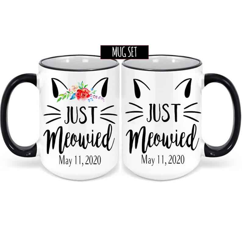 Couples Just Meowied Mug Set