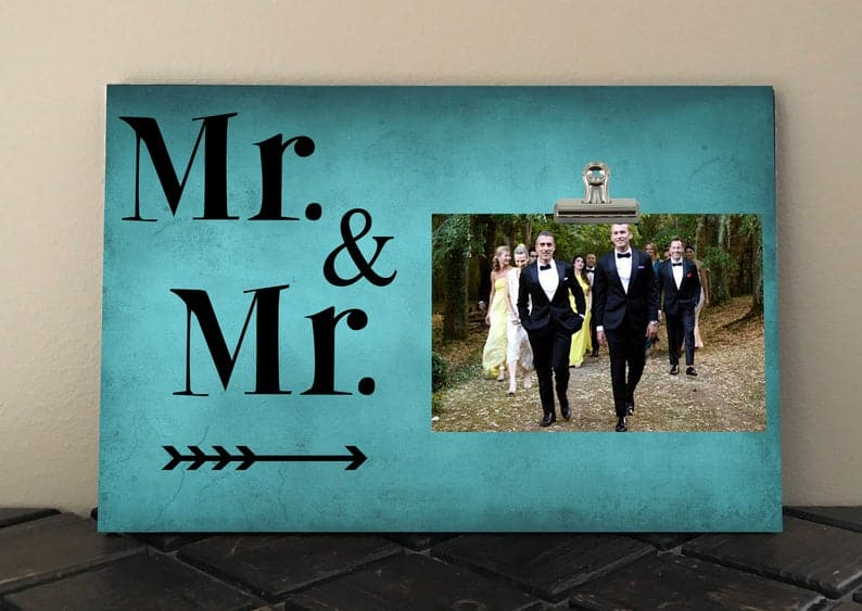 wedding shower gift ideas for gay couple frame