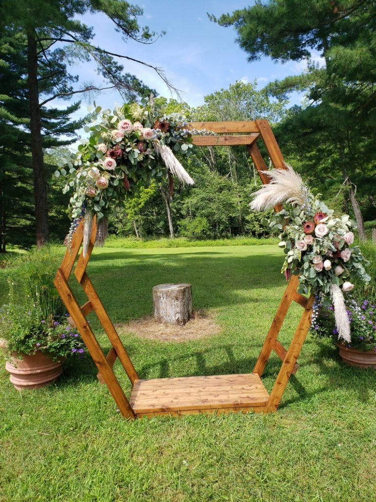 LOCAL RENTAL - Central Ohio: Wooden Hexagon Wedding/Ceremony Arch