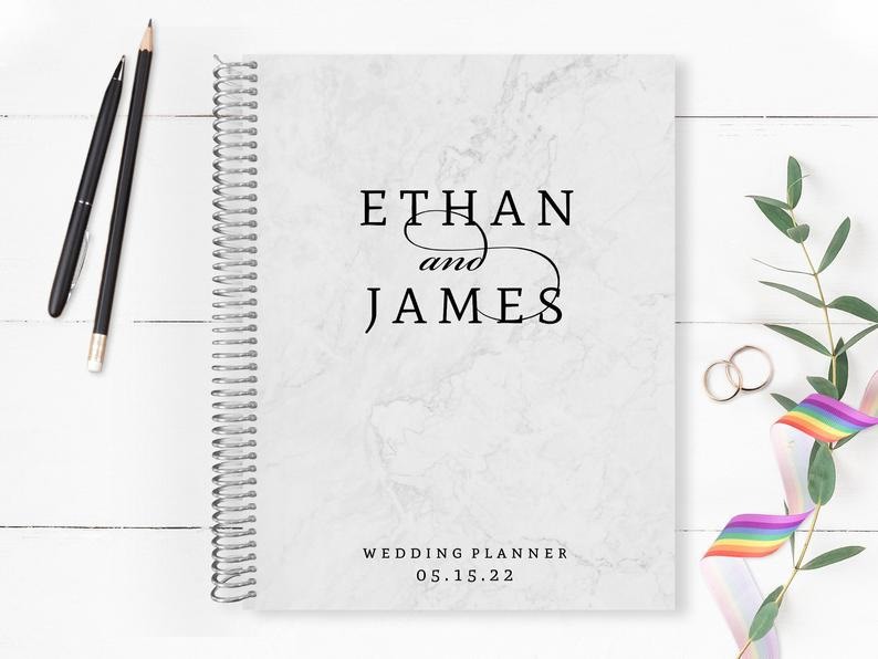 Two Grooms are better than one planner Purple Trail