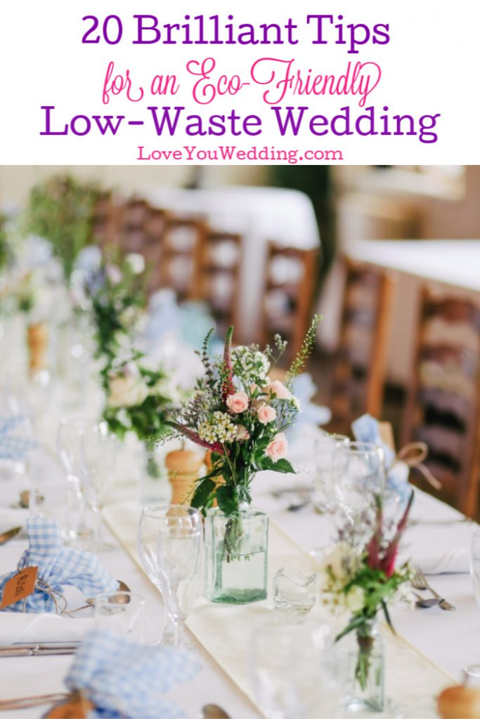 If you want to lower the carbon footprint of your big day, you'll love these tips for a low-waste wedding.