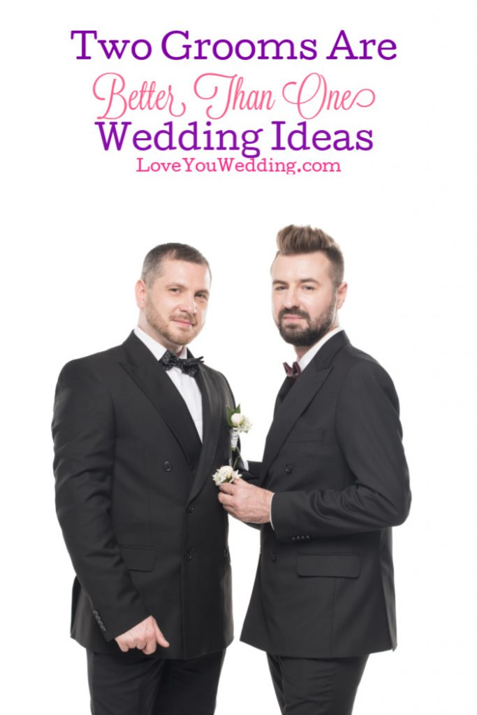 """If you're looking for some of the best """"two grooms are better than one"""" wedding ideas, we've got you covered! Check out planners, invites, and decor ideas!"""