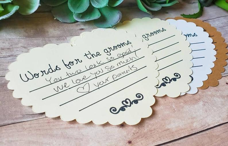 Gay Wedding Words For The Grooms Guest Heart Cards